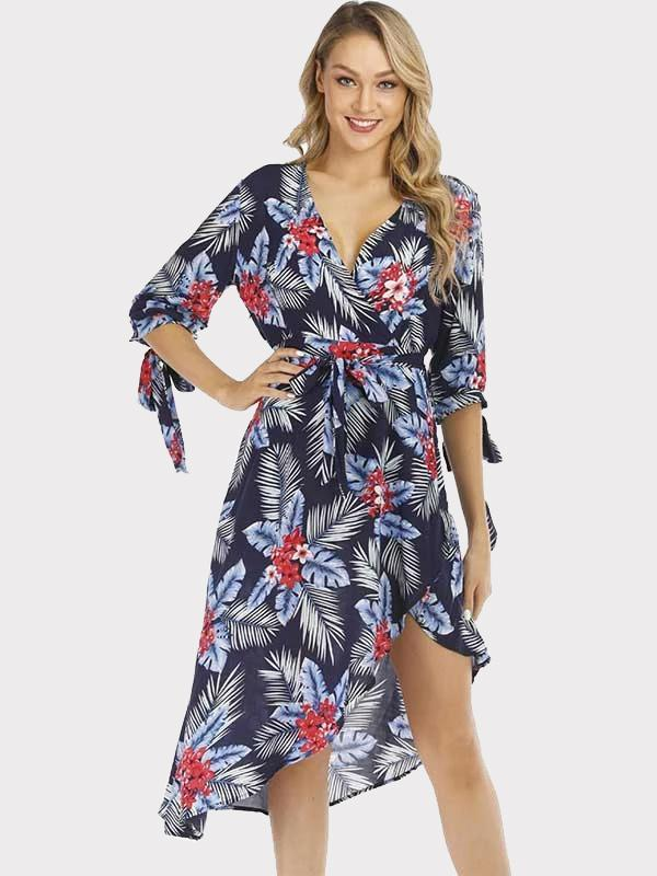 New Women Beach Printed Dresses For Summer holiday