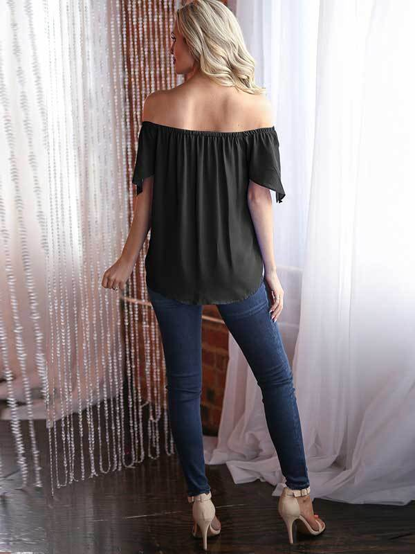 Off The Shoulder Black Blouse