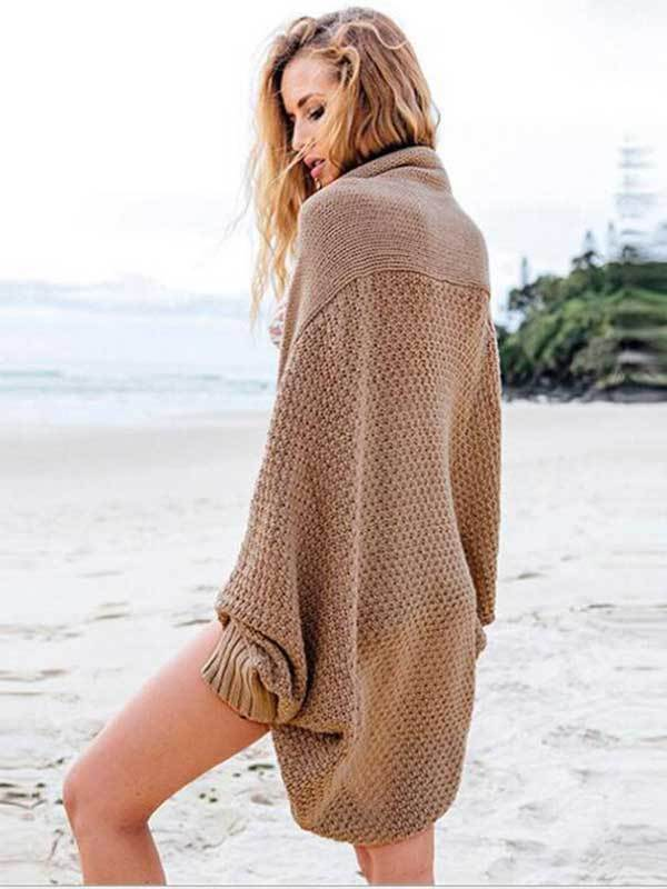Open Front Long Sleeve Women's Casual loose cardigan