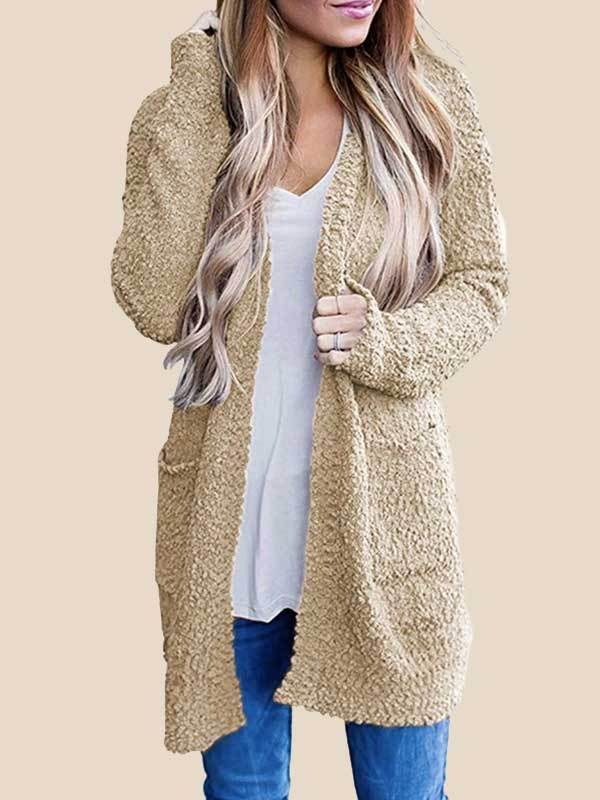 popcorn cardigan Oversized Sherpa Slouchy Open Sweater Coat