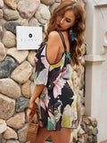 Summer Women Sexy Sling Floral Print Dress