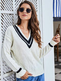 V-neck knitted sweater 2019