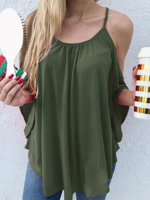 Woman Bat Sleeve Camisole Blouse