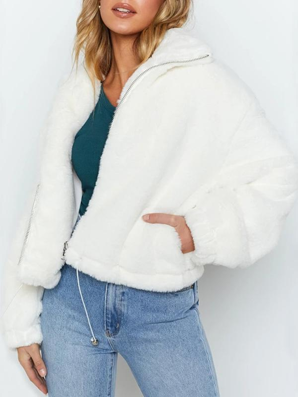 Woman Casual Tops White Sweater Cardigan