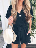Woman One Shoulder Loose Romper