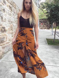 Women Fashion Printed Irregular Vacation skirt