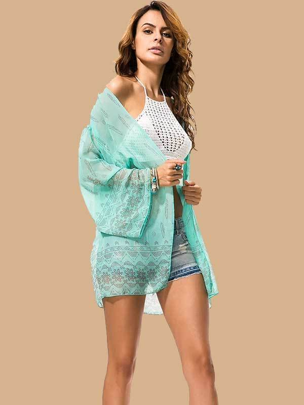 women floral holiday beach cover ups