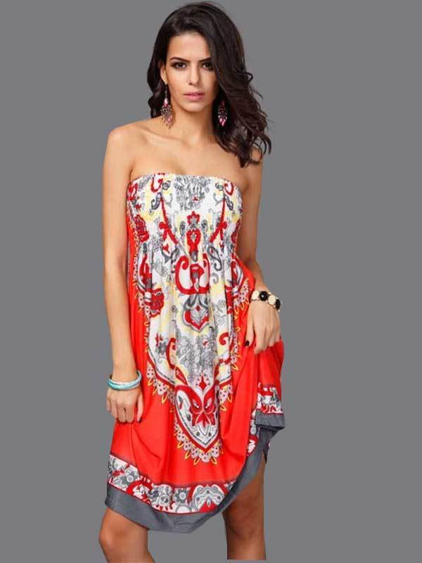 women floral sexy tube dress