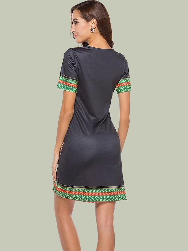 women half sleeve v neck sexy bodycon dress