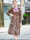 women leopard print coat