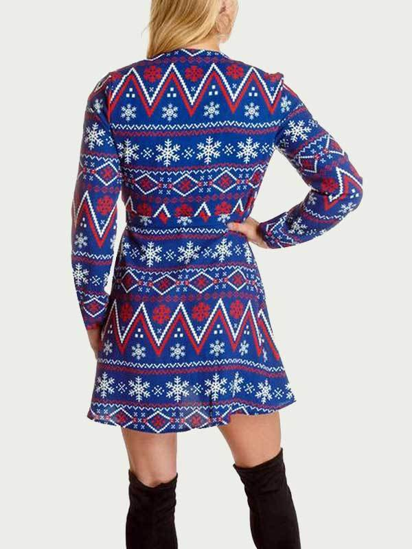 women long sleeve Christmas style dress