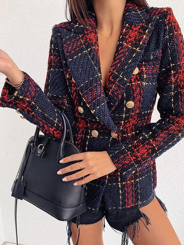 women long sleeve deep v neck blazer