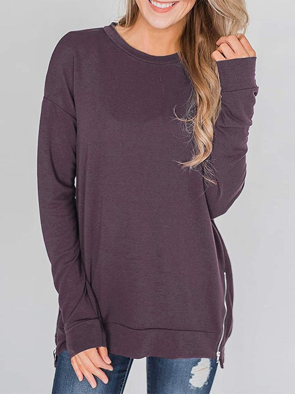 women long sleeve solid blouse