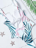 Women new Backless flamingo one-piece bikini