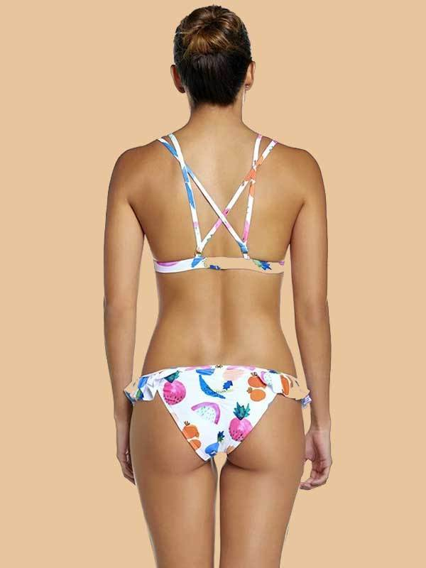 Women New Fashion Floral Bikini