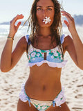 Women Sexy Floral Swimwear Fashion Bikini