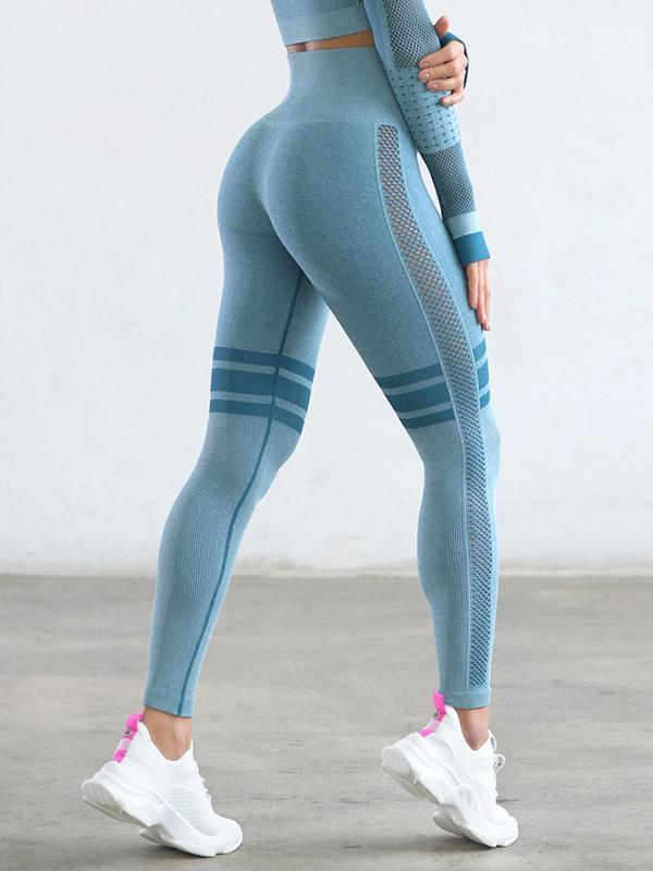 women solid high waist yoga sports legging