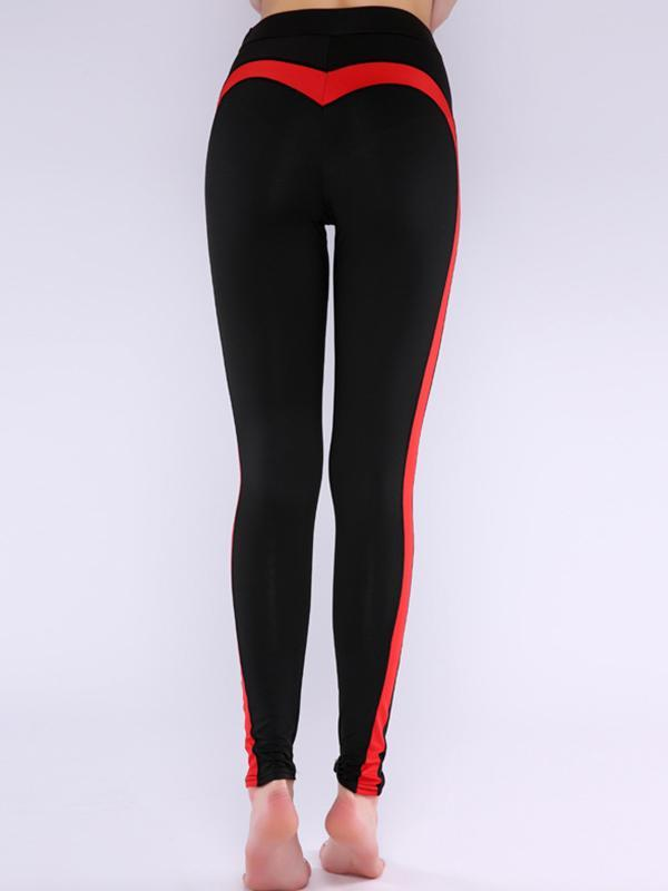 women yoga contrast color sports bottom