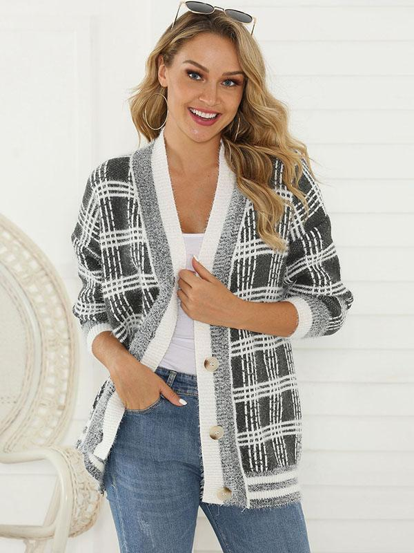 Women's Casual Loose Cardigan Sweater