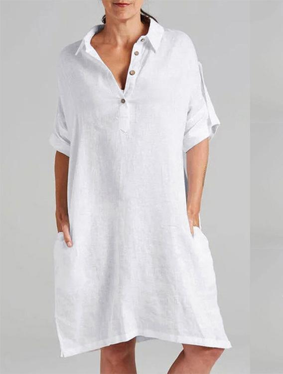 Women's casual simple T-shirt loose dress
