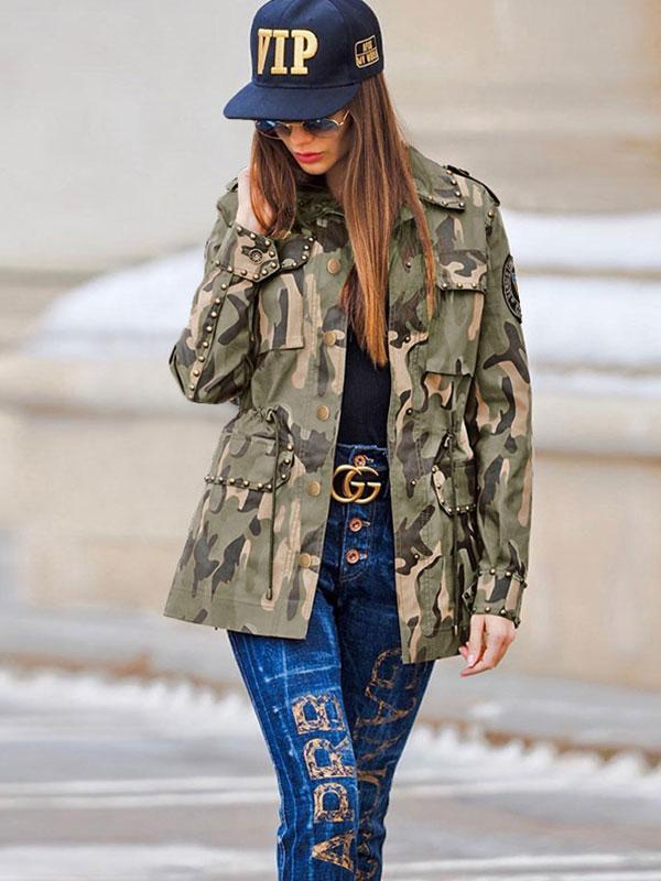 Women's Cool camouflage casual coat