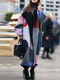 Women's Fashion Color Lapel Wool Coat