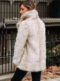 Women's Fashion Fox Fur Warm Coat