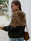 Women's Fashion Leopard Patchwork Coat
