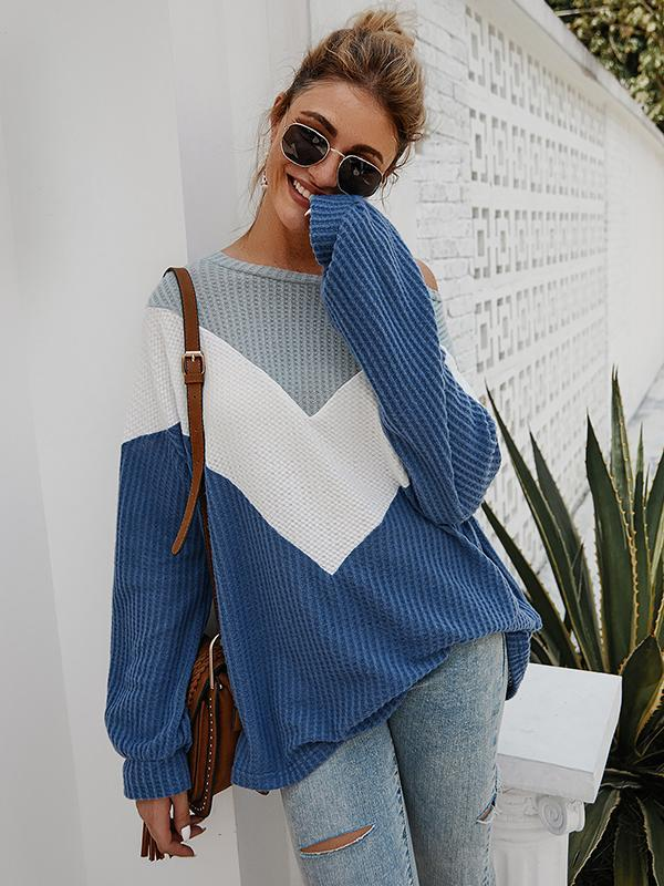 Women's long sleeves Knitted sweater