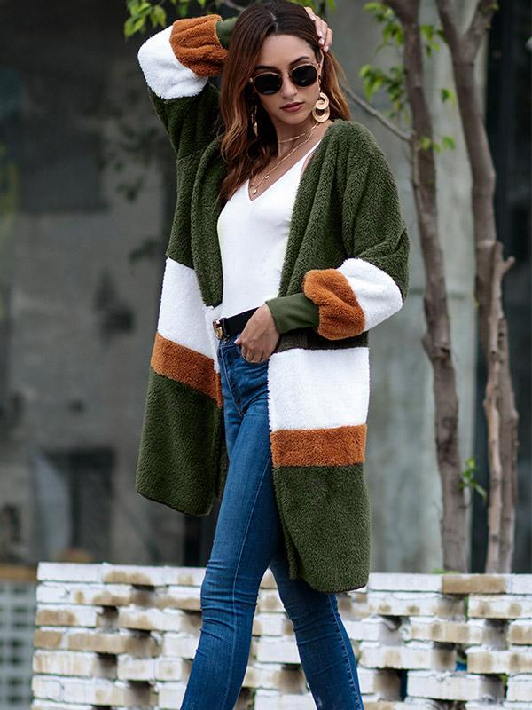 Women's Loose mid-length cardigan sweater