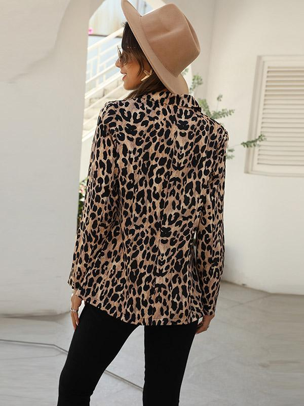 Women's New Fashion Leopard Print Jacket