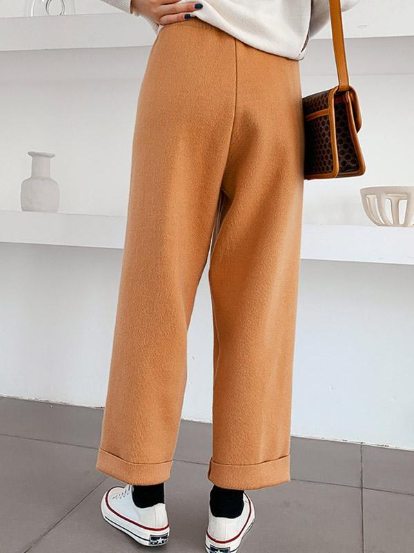 Women's New high waist casual straight pants