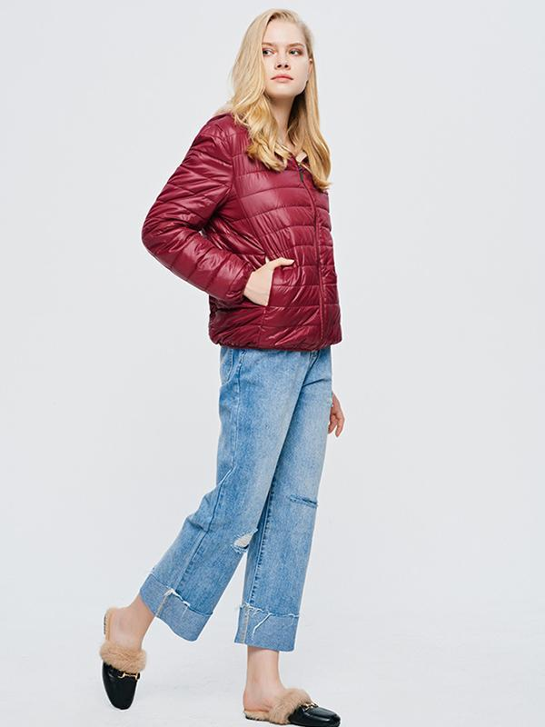 Women's New hooded short coat