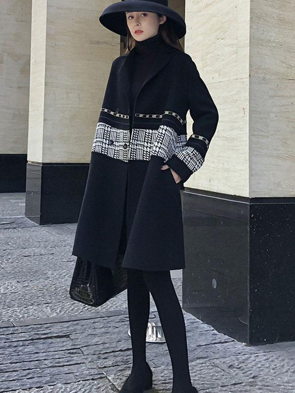 Women's New mid-length woolen coat