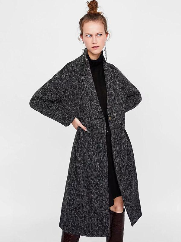 Women's New One Button Long Coat