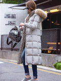Women's New over knee thick warm down coat