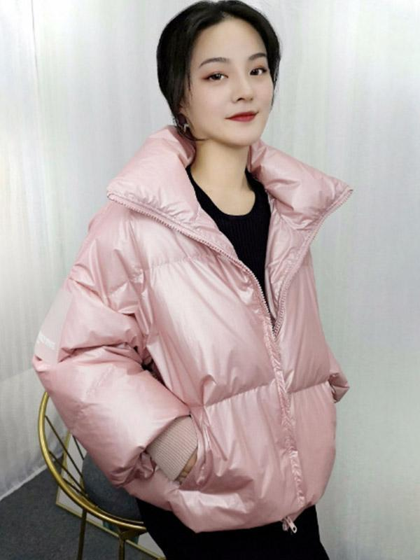 Women's New short thick stand-up collar down coat