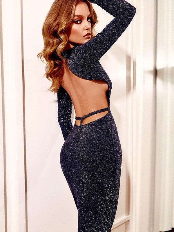 Women's New Slim Sexy Backless Dress