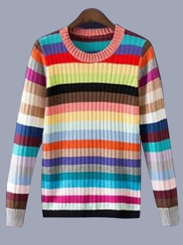 Women's New Striped Pullover Sweaters