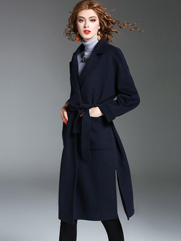Women's New temperament wool double-sided woolen coat