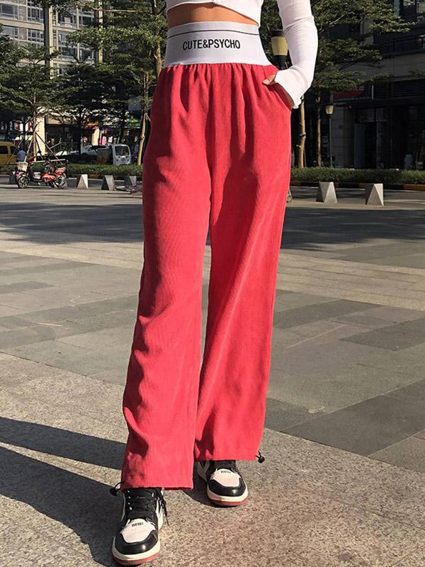 Women's Personalized casual solid color pants