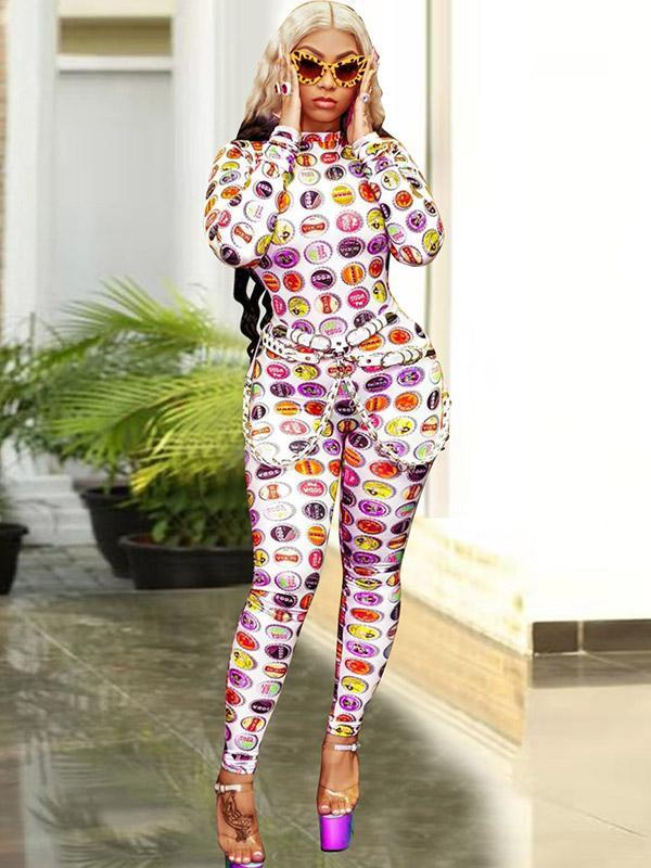 Women's Personalized Digital Print Jumpsuit