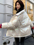 Women's Personalized shiny down coat