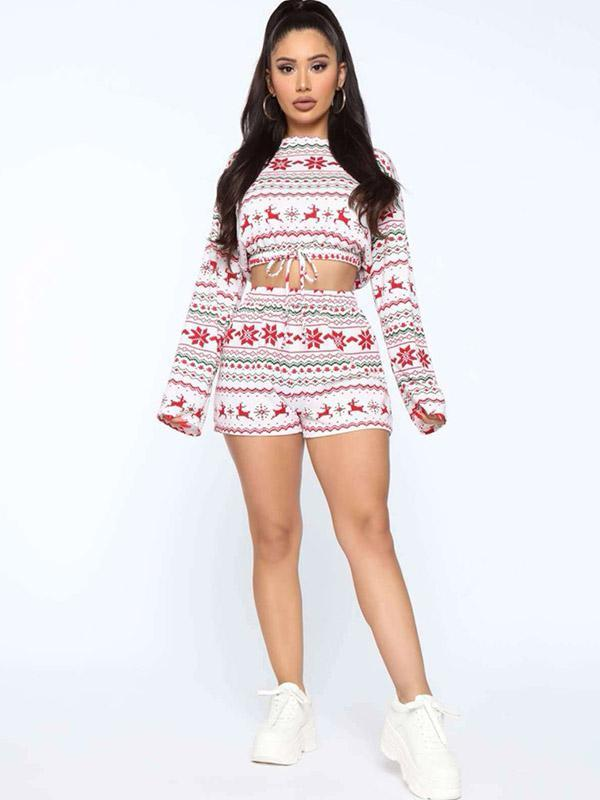 Women's Sexy Christmas Top&Pants Sets