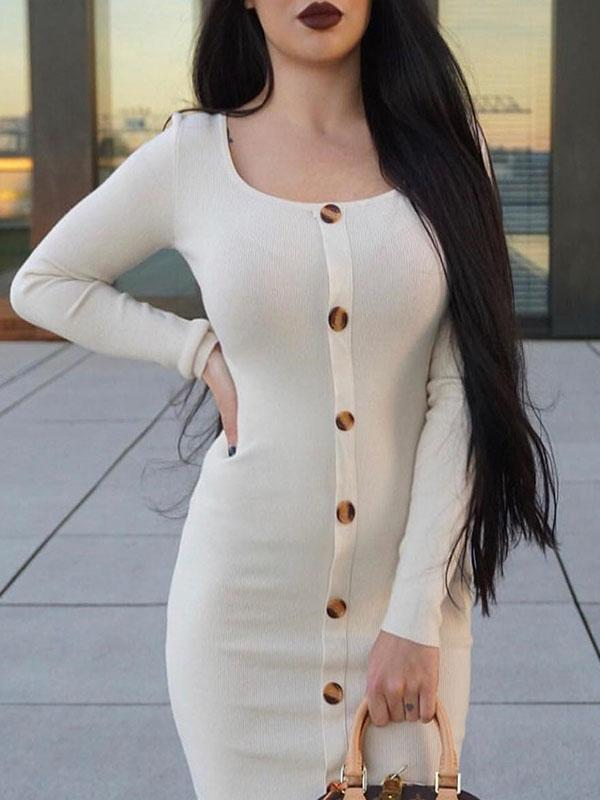 Women's Sexy Hip Dress With Buckle
