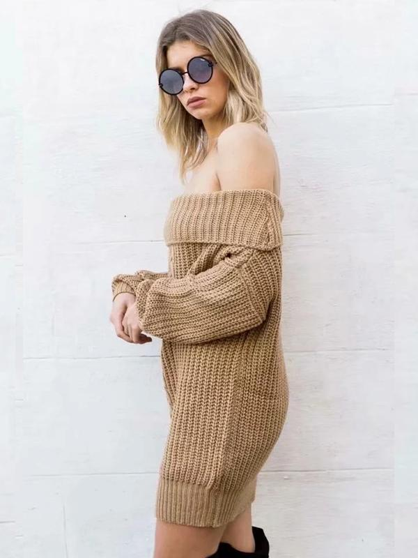 Women's Sexy Off-the-shoulder Loose Sweater