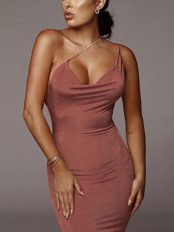 Women's Sexy Open Back Midi Dress