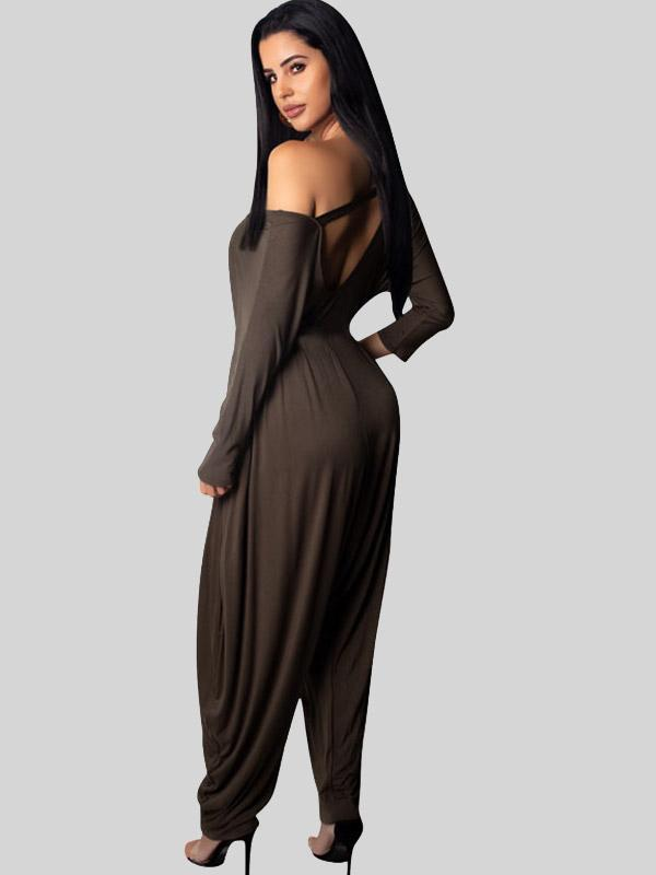 Women's Sexy Solid Color Jumpsuit