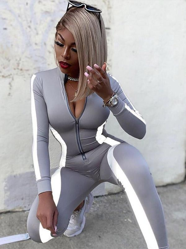 Women's Sexy Solid color Tight Jumpsuit