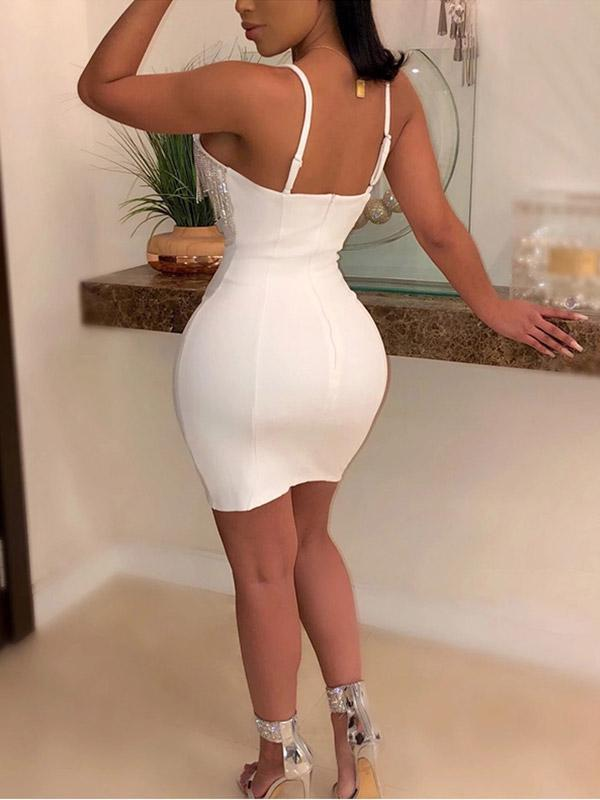 Women's Sexy V-neck Camisole Mini Dress